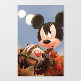 Mickey Mouse - Rogue Squadron Canvas Print