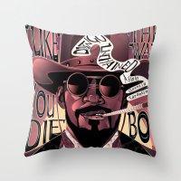 django Throw Pillows featuring Django Poster by eos vector