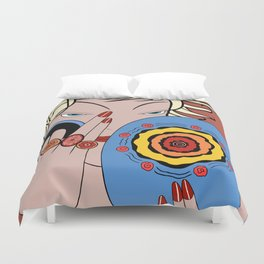 CORRINE: Art Deco Lady - LATE SUMMER Duvet Cover