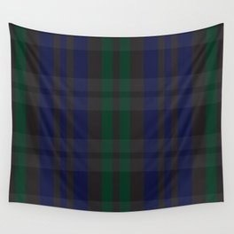 Green and blue plaid pattern Wall Tapestry
