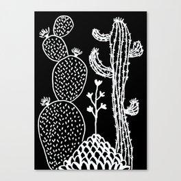 Cactus 30 black Canvas Print