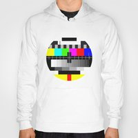 tv Hoodies featuring TV by Les Hameçons Cibles