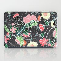 preppy iPad Cases featuring Pastel preppy hand drawn garden flowers chalkboard by Girly Trend