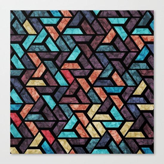 Seamless Colorful Geometric Pattern XV Canvas Print