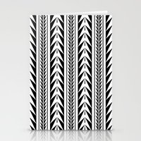 moroccan Stationery Cards featuring Moroccan Stripes by Caitlin Workman