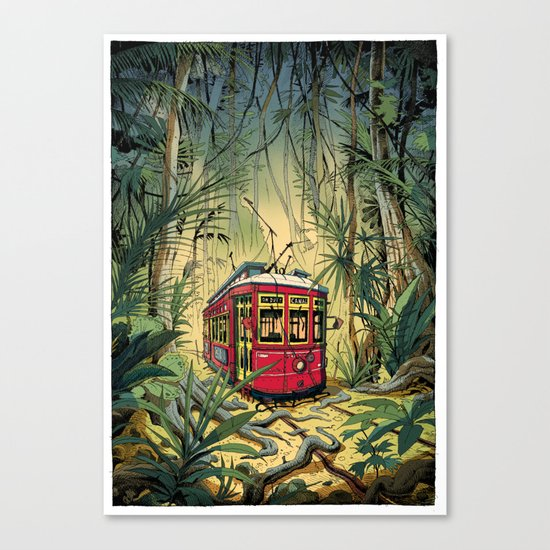 Jungle Tram Canvas Print