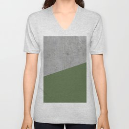 Concrete and Kale Color Unisex V-Neck