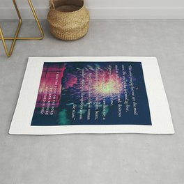 The Mad Ones on the Road Quote Rug