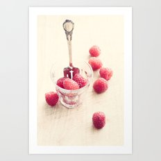 Fresh Raspberries Art Print