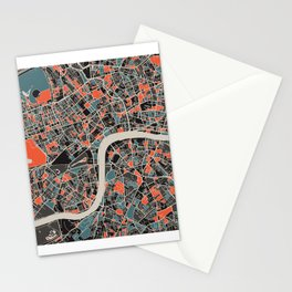 London Multicoloured Print Stationery Cards
