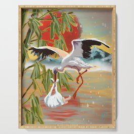 Stork and Baby Serving Tray