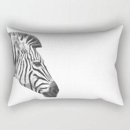 Black and White Zebra Profile Rectangular Pillow