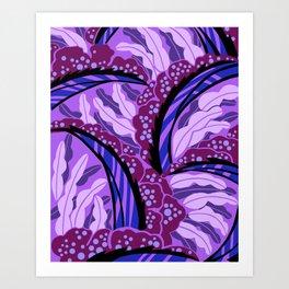 BALINESIA: PURPLE HAZE, Art Deco Tropical Art Print