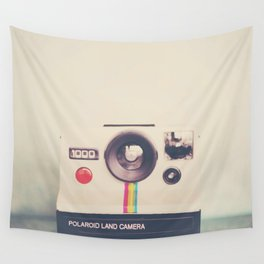 portrait of a polaroid ...  Wall Tapestry