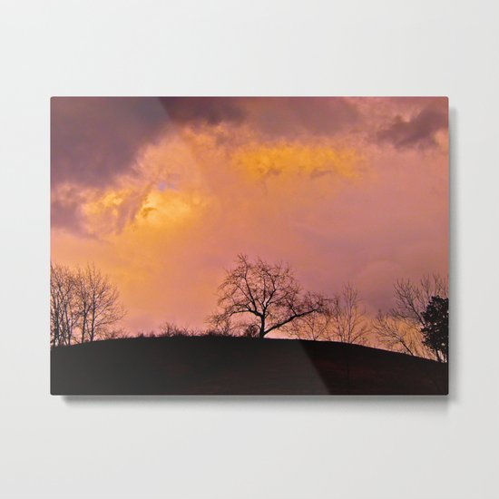 Morning Storm Clouds Metal Print