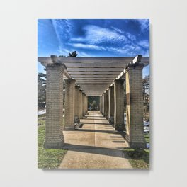 Walkway to Gardens Metal Print
