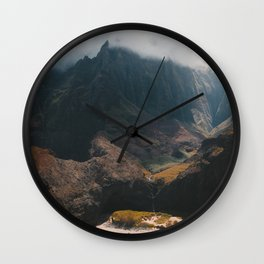 Island Mountains Wall Clock