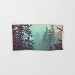 Forest Fog Fir Trees Hand & Bath Towel