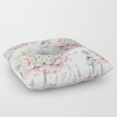 Pink Echeveria #society6 #buyart Floor Pillow