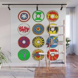 Superhero Donuts Wall Mural