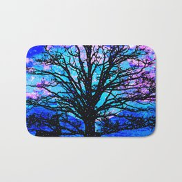 TREES AND STARS Bath Mat