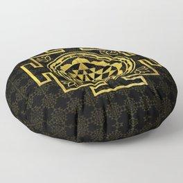 Golden Sri Yantra  / Sri Chakra Floor Pillow