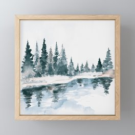 Mountain River Framed Mini Art Print
