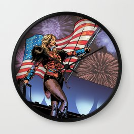 Britney Spears 1 - comic book image Wall Clock
