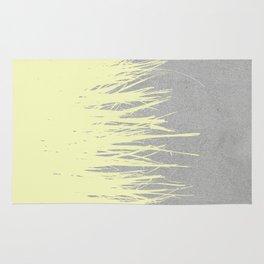 Concrete Fringe Yellow Rug