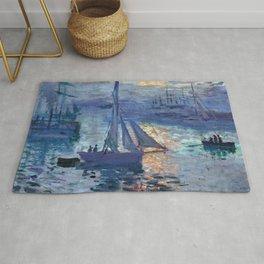 Claude Monet Sunrise - Marine Rug