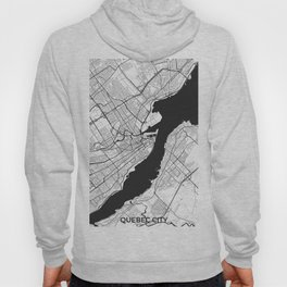 Quebec Map Gray Hoody