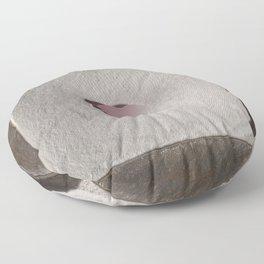 Rose Quartz heart in a zen garden Floor Pillow
