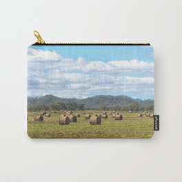 Hay bales on a sunny day Carry-All Pouch