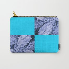 Season of the Square - Light Blue Check Carry-All Pouch