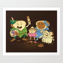 Yep, just a little bit of fairy peanut butter Art Print