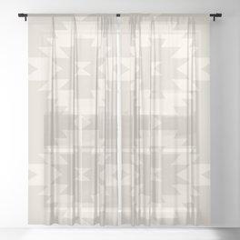 Southwestern Minimalism - White Sand Sheer Curtain