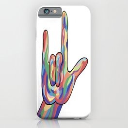 ASL I Love You Muted Tones iPhone Case