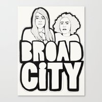 broad city Canvas Prints featuring Broad City by Black Neon