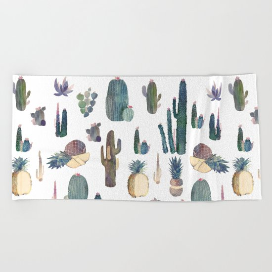 My best Cactus and Pineapples!!!! Beach Towel