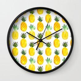 Pineapple love || watercolor Wall Clock