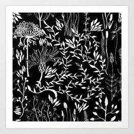 nature in black Art Print