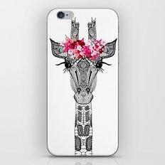 FLOWER GIRL GIRAFFE iPhone & iPod Skin