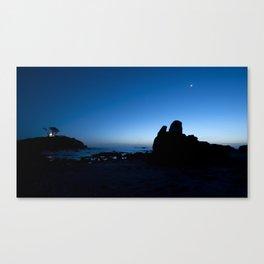 blue hour. Canvas Print
