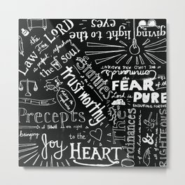 Psalm 19 Metal Print