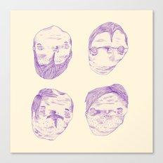 Purple Heads  Canvas Print
