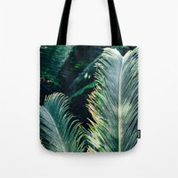 palm tree Tote Bags featuring Palm Tree by Pati Designs