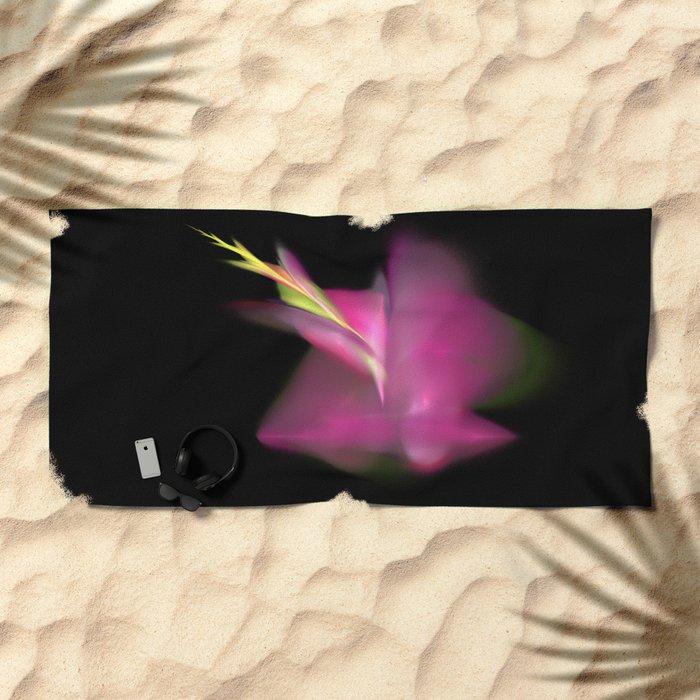 a flower is born   (A7 B0191) Beach Towel