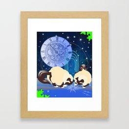 The Boy Cats Study Cosmology Framed Art Print