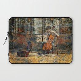 Sidewalk Cellist Laptop Sleeve