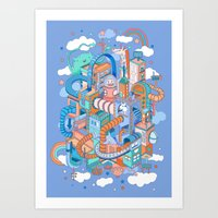 kpop Art Prints featuring George's place by Polkip